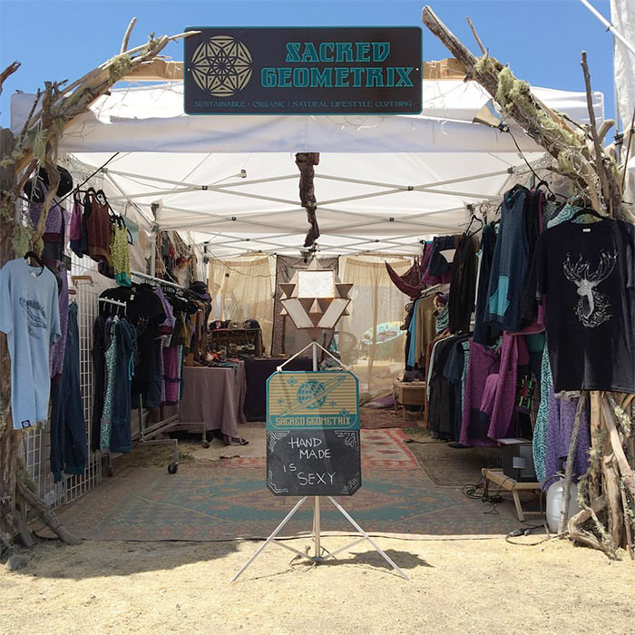 Sustainable Wearable Art by Sacred Geometrix - Booth