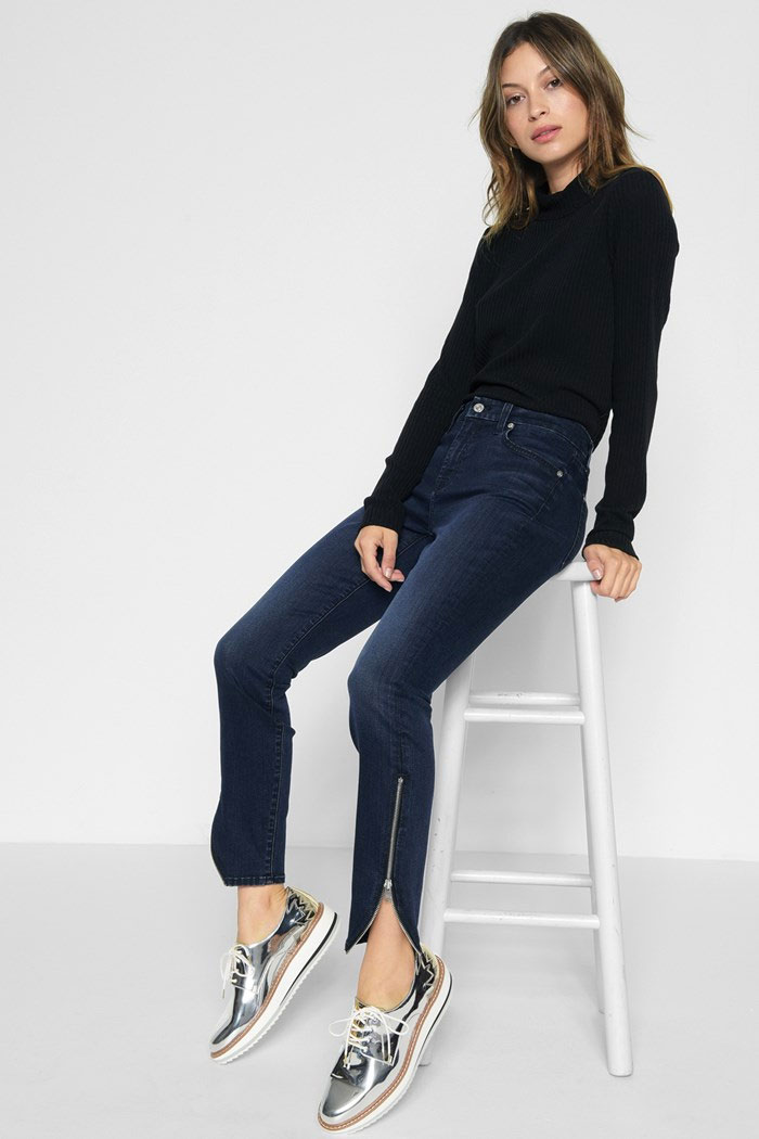 New Bold Styles of B(air) Denim by 7 For All Mankind - Tulip Hem - Park Avenue