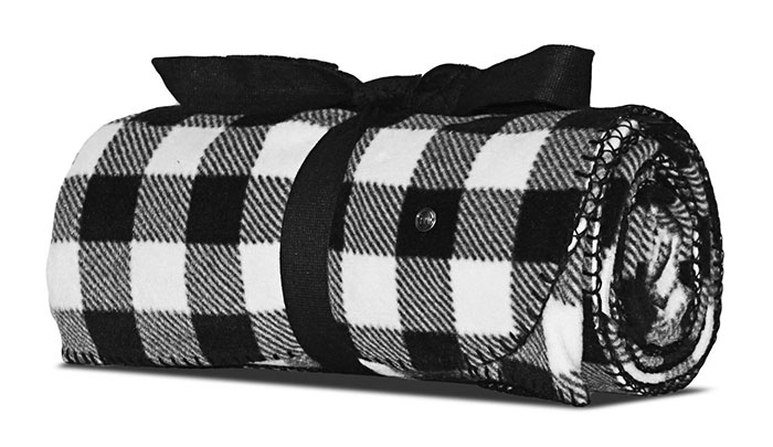 Mitscoots Outfitters Launches Blankets and Pillows for the Homeless - Blanket Black White Plaid