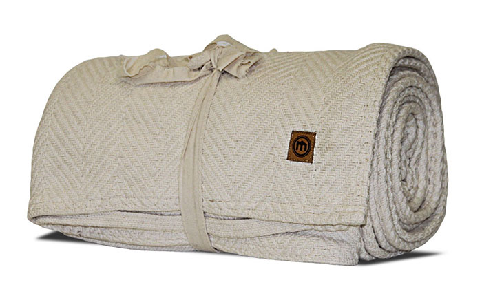 Mitscoots Outfitters Launches Blankets and Pillows for the Homeless - Loom Woven Blanket