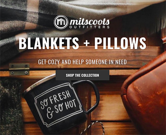 Mitscoots Outfitters Launches Blankets and Pillows for the Homeless