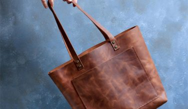 Natural Leather Tote Bags for Fall from Etsy