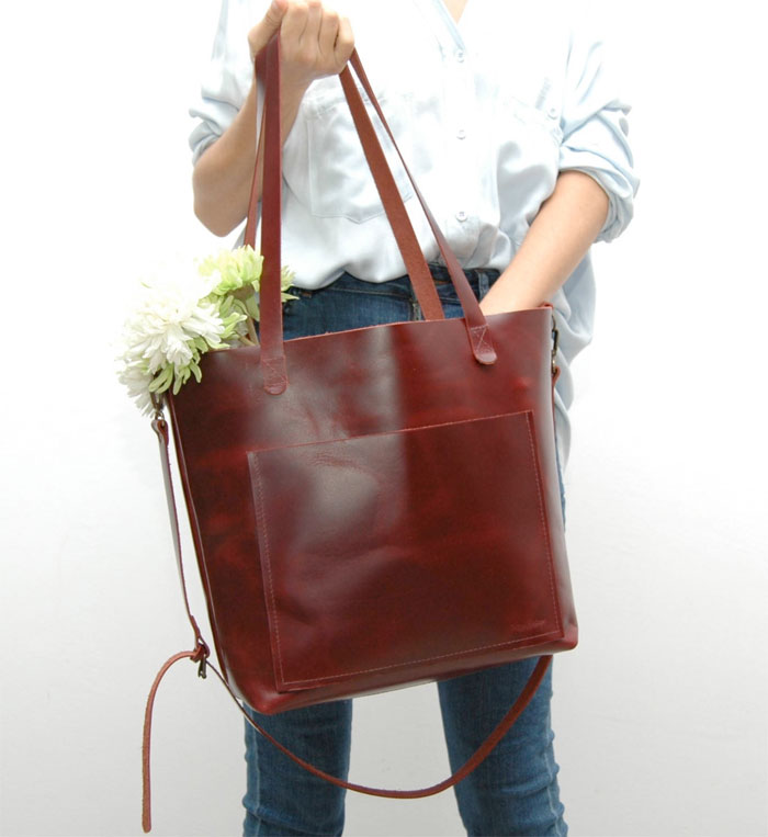Natural Leather Tote Bags for Fall from Etsy - Natural Heritage Bags 2