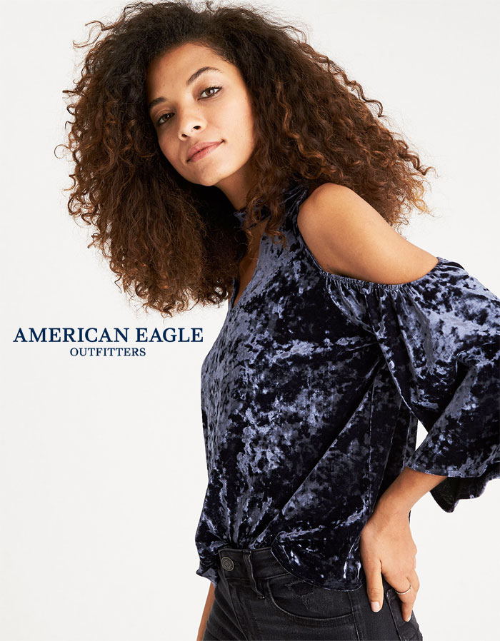 Shop the Season's Velvet Trend at American Eagle Outfitters