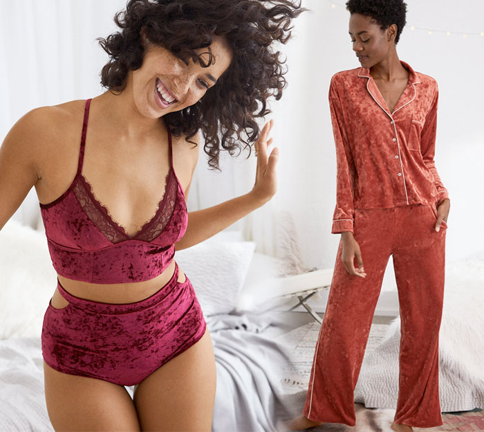 Shop the Holiday Velvet Trend at American Eagle Outfitters - Intimates and Sleepwear