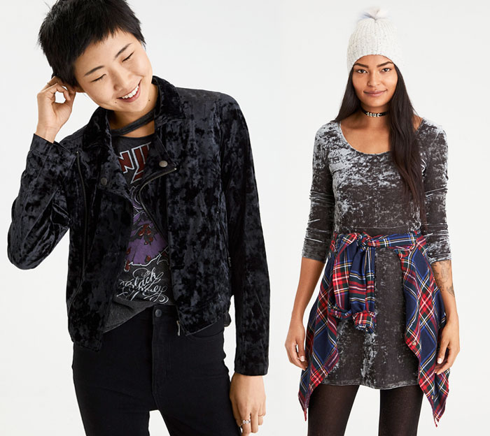 Shop the Holiday Velvet Trend at American Eagle Outfitters - Jacket and Dress