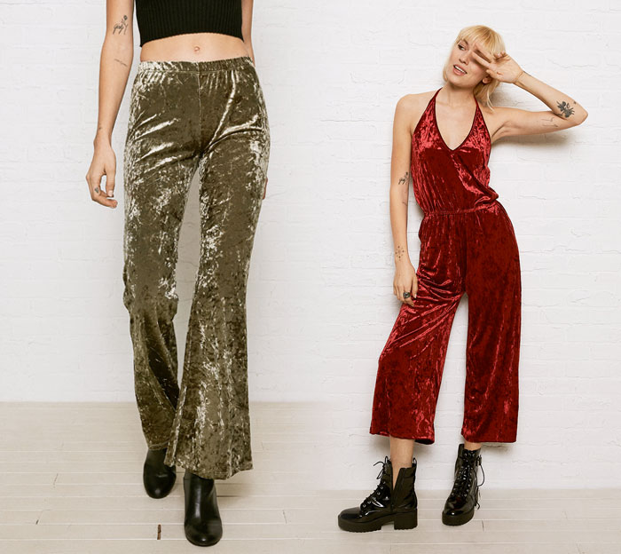 Shop the Holiday Velvet Trend at American Eagle Outfitters - Bells and Jumpsuit