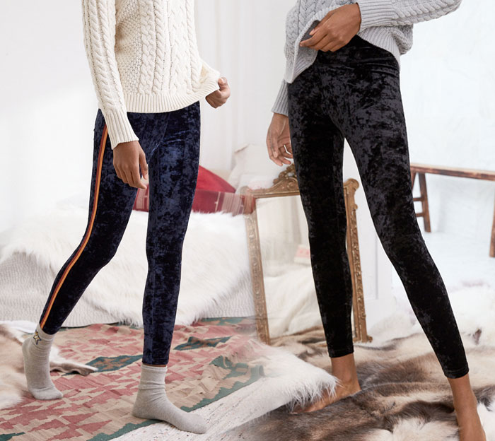 Shop the Holiday Velvet Trend at American Eagle Outfitters - Leggings