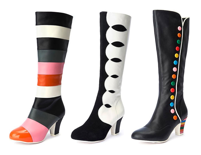 Comfortable and Whimsical Footwear by Lola Ramona  - Tall Boots