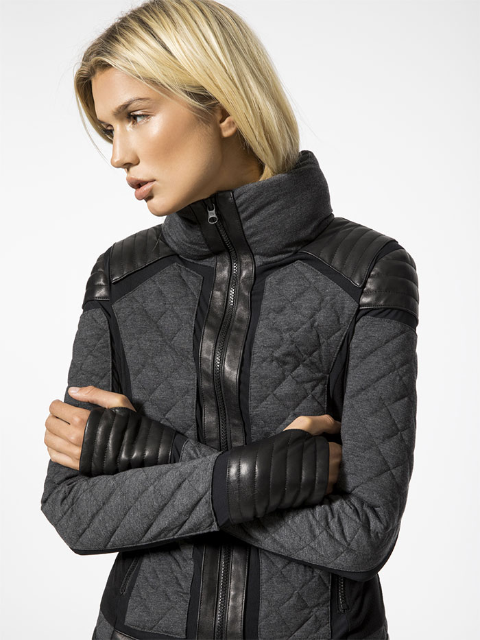 High Performance Moto Style by Blanc Noir at Carbon38 - Mesh Moto Puffer