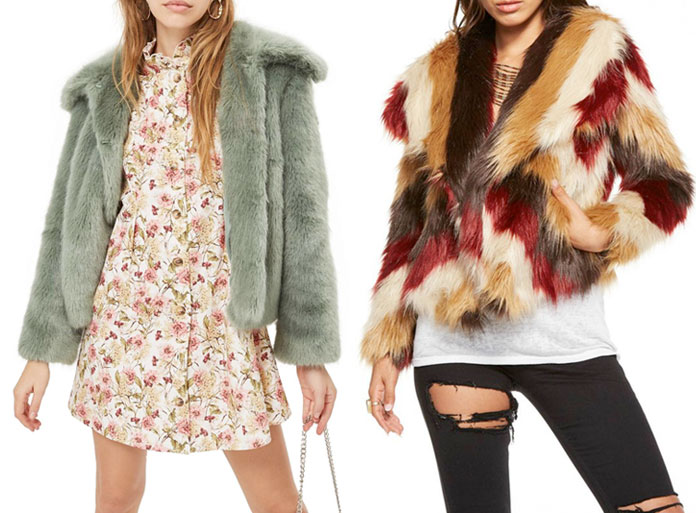 Stay Cozy and Stylish in Faux Fur Jackets this Winter - Topshop and Chaser