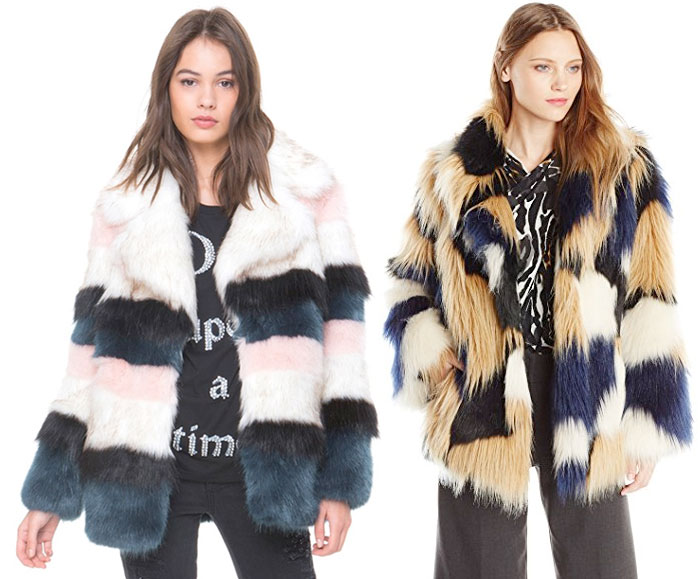 Stay Cozy and Stylish in Faux Fur Jackets this Winter - Juicy Couture and Trina Turk