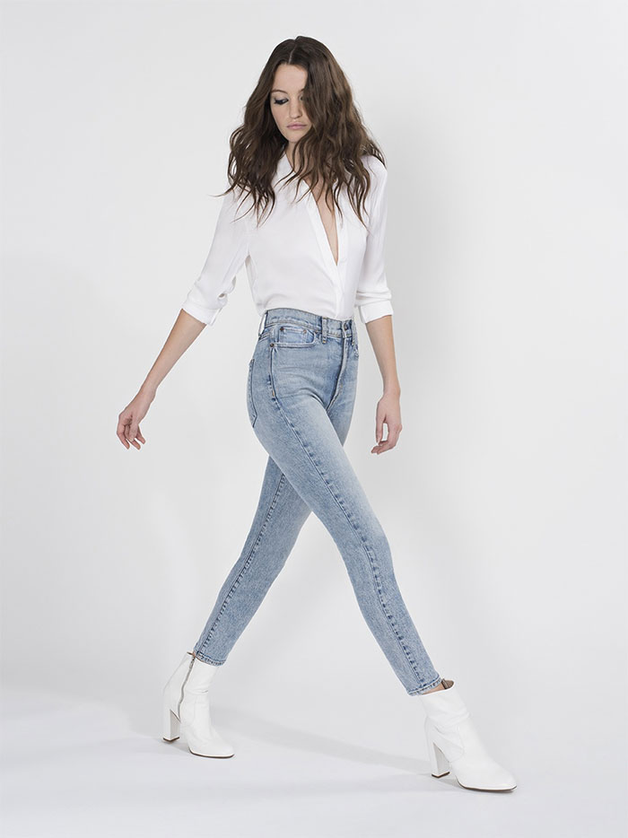The New AO.LA Jeans by Alice + Olivia - Good High Rise Ankle in Rebel Rebel