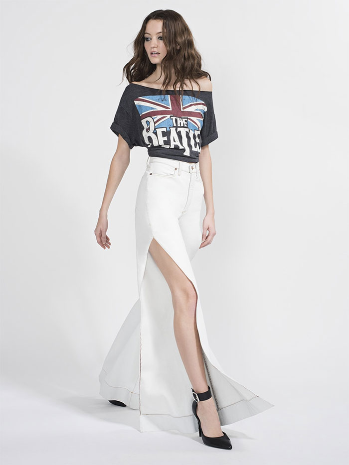 The New AO.LA Jeans by Alice + Olivia - Gorgeous Bell with Side Slit