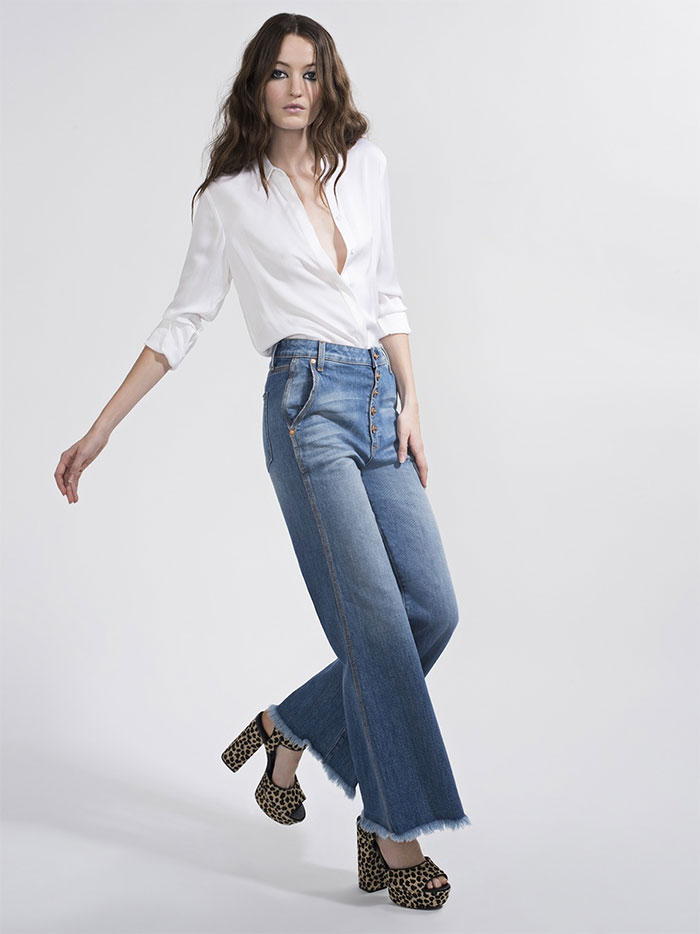 The New AO.LA Jeans by Alice + Olivia - Gorgeous High Rise Wide Leg