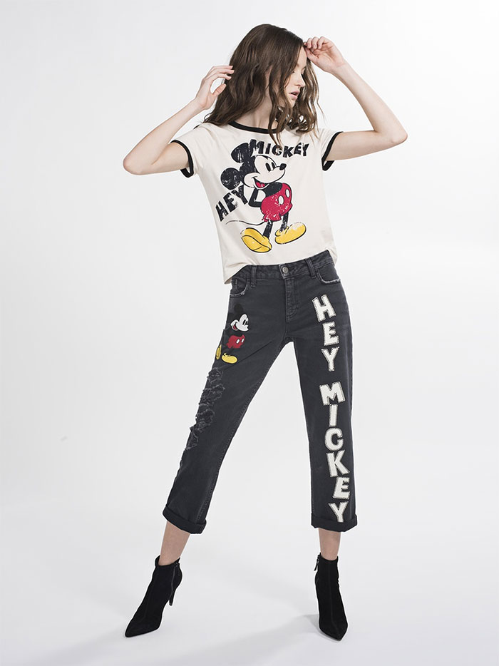 The New AO.LA Jeans by Alice + Olivia - Scott Embroidered Boyfriend in Hey Mickey