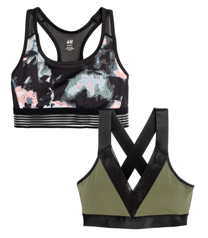 New Environmentally Conscious Activewear from H&M - Bras
