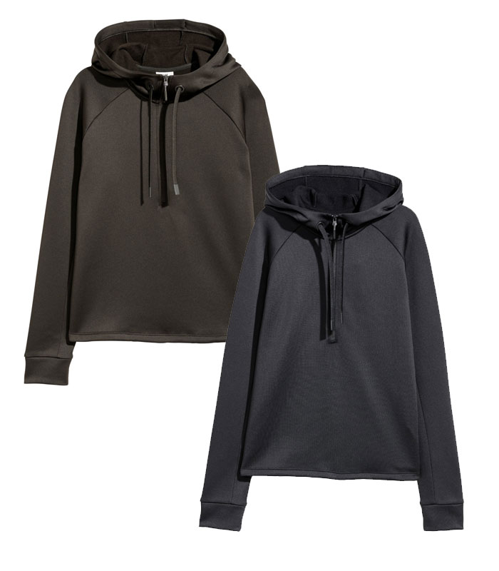 New Environmentally Conscious Activewear from H&M - Hoodies