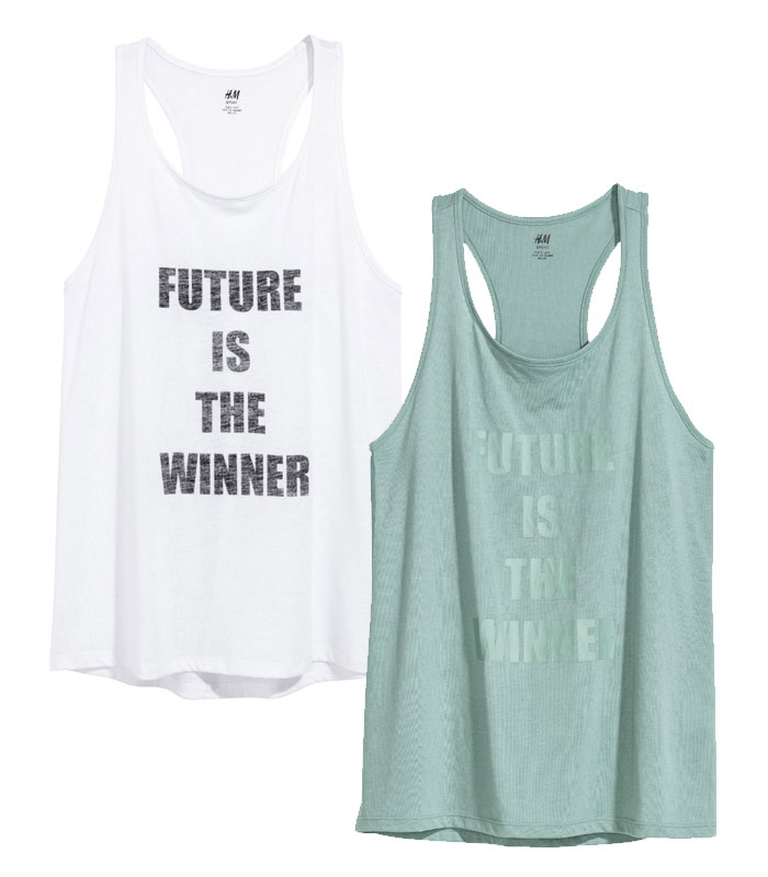 New Environmentally Conscious Activewear from H&M - Tank Tops