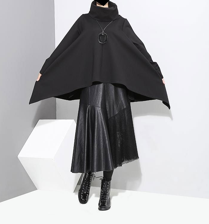 Affordable Modern Style for Dark Tastes by Marigold Shadows - Wheeler Turtleneck Cloak
