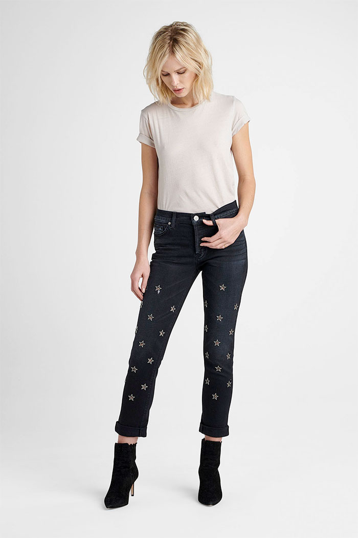 Unique New Arrivals from Hudson Jeans - Riley Crop in Mythology