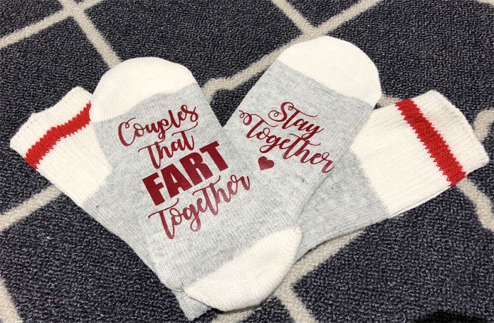 Creative and Personal Valentine's Day Gift Ideas from Etsy - Fart Socks