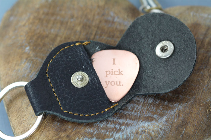 Creative and Personal Valentine's Day Gift Ideas from Etsy - Personalized Guitar Pick