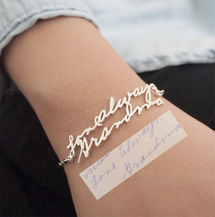 Creative and Personal Valentine's Day Gift Ideas from Etsy - Handwriting Bracelet