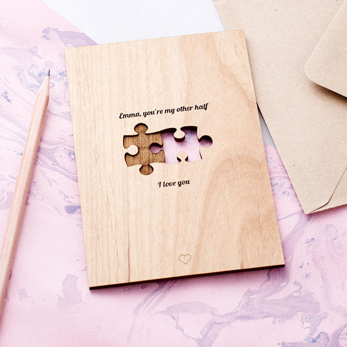 Creative and Personal Valentine's Day Gift Ideas from Etsy - Jigsaw Card