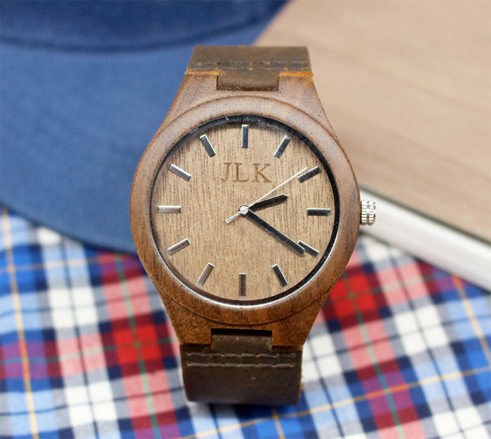 Creative and Personal Valentine's Day Gift Ideas from Etsy - Personalized Wooden Watch