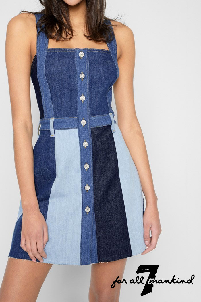New Patchwork Denim Designs from 7 For All Mankind -  Dress