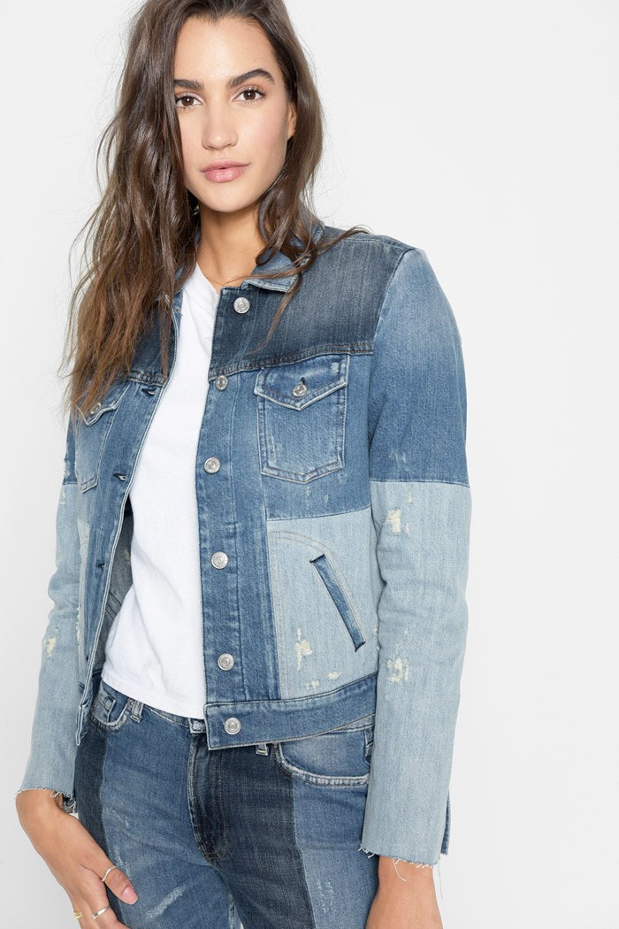 New Patchwork Denim Designs from 7 For All Mankind - Jacket