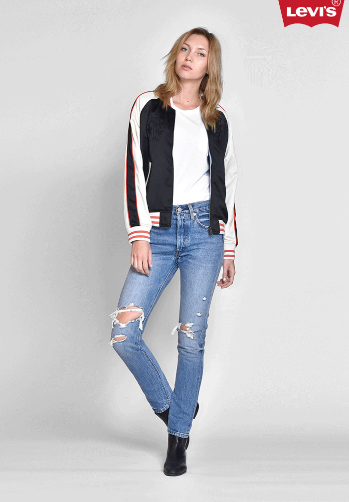 Modern meets Vintage with the Levi's 501 Skinny Jean