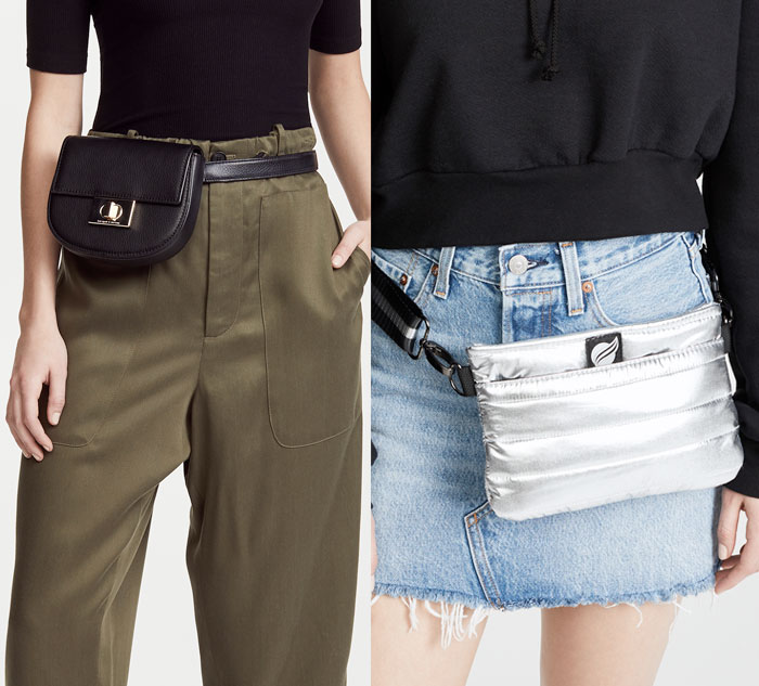 Versatile and Stylish Belt Bags for Everyday Convenience - Black and Silver Bags