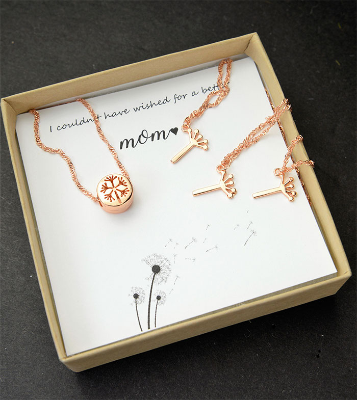 20 Unique Last Minute Mother's Day Gifts - Dandelion Necklace