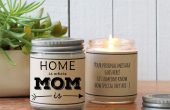 20 Unique Last Minute Mother's Day Gifts - Personalized Candle