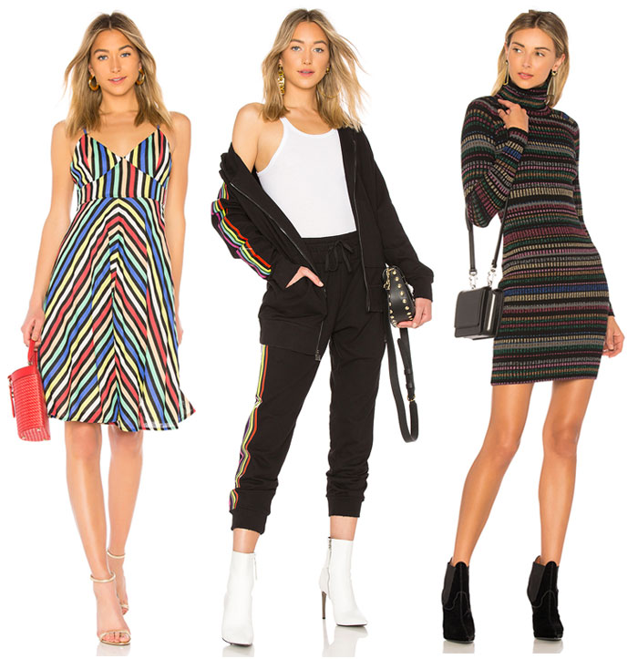 Chic Rainbow Pieces to Welcome Summer from Revolve - Dresses, sweatpants, hoodie