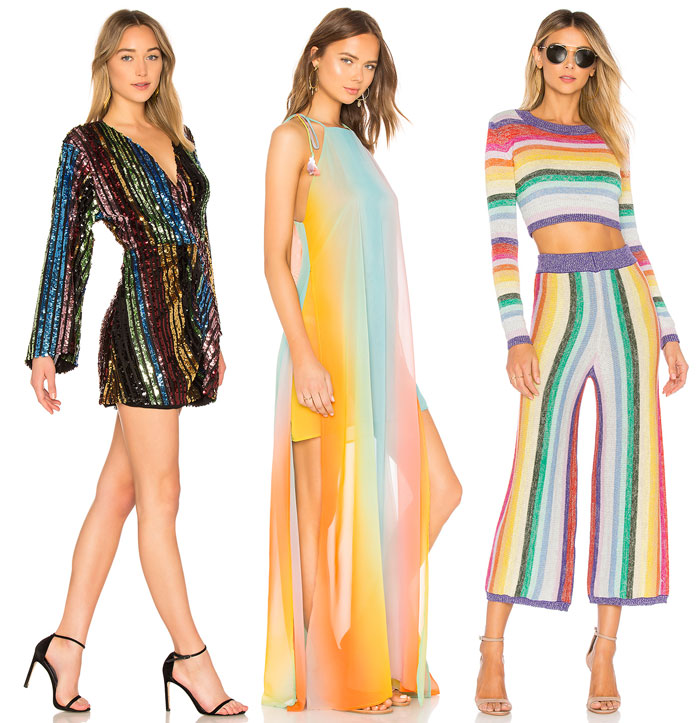Chic Rainbow Pieces to Welcome Summer from Revolve - Dresses, sweater and pants