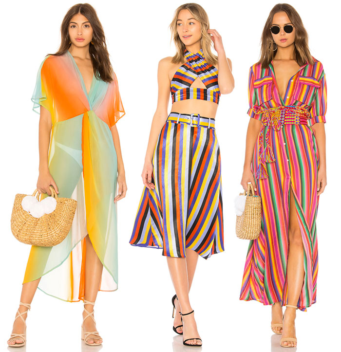 Chic Rainbow Pieces to Welcome Summer from Revolve - Coverup, dress, top and skirt