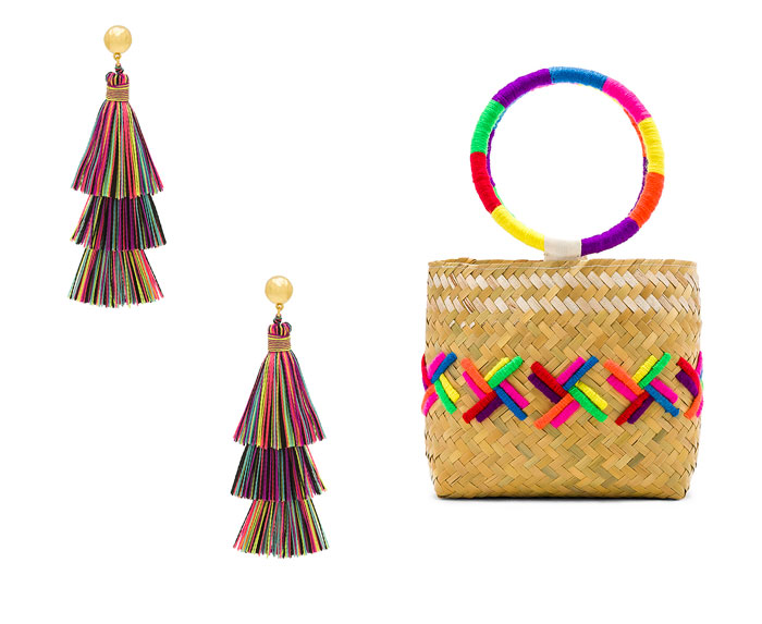 Chic Rainbow Pieces to Welcome Summer from Revolve - Earrings and Bag
