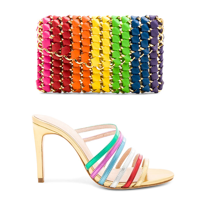 Chic Rainbow Pieces to Welcome Summer from Revolve - Clutch and Heels