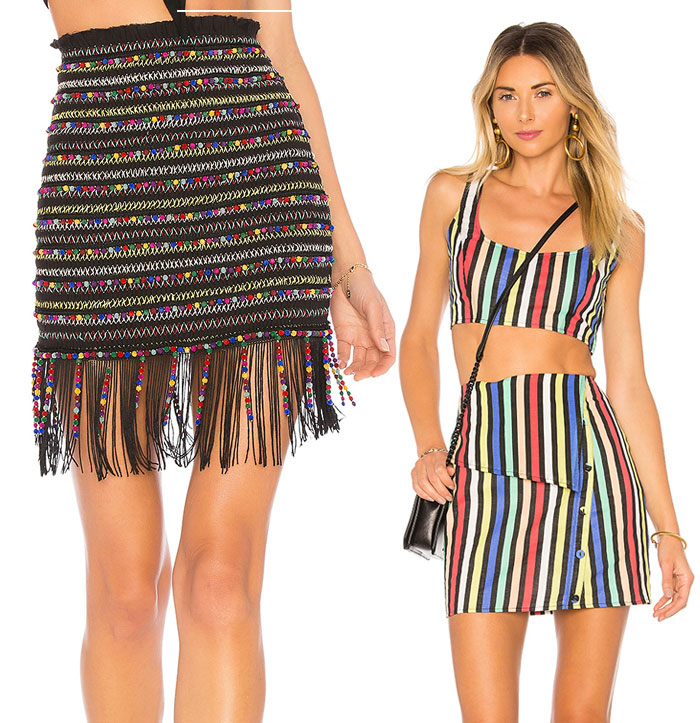 Chic Rainbow Pieces to Welcome Summer from Revolve - Skirts and top