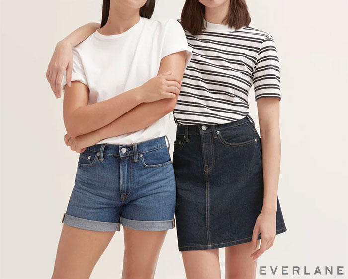 Everlane Introduces Sustainable Denim Shorts and Skirts