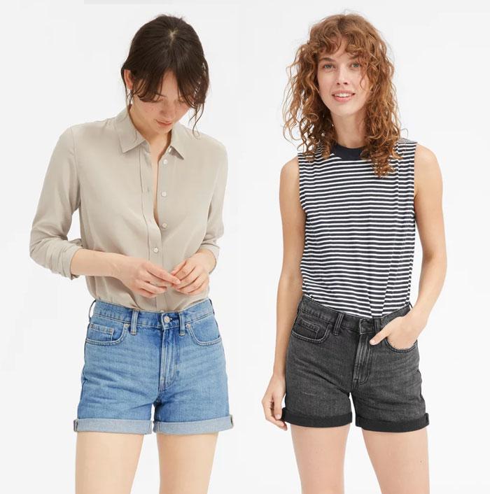 Everlane Introduces Sustainable Denim Shorts and Skirts - Shorts