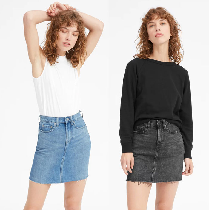 Everlane Introduces Sustainable Denim Shorts and Skirts - Skirts