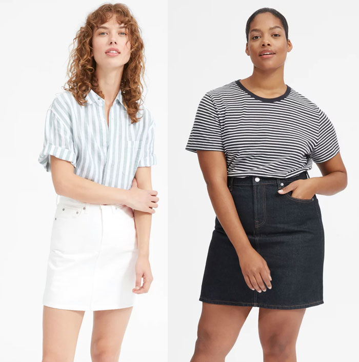 Everlane Introduces Sustainable Denim Shorts and Skirts - Skirts 2