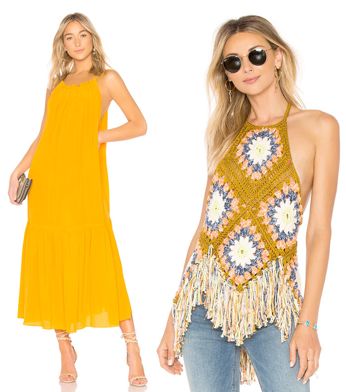 Get Into The Groove with the 70s Edit at Revolve - Dress and Crochet Top