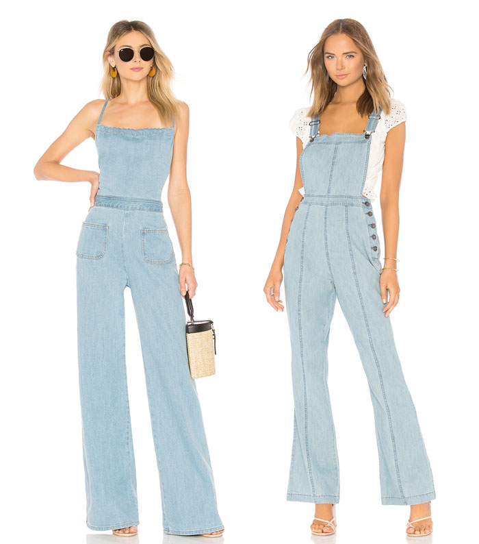 Get Into The Groove with the 70s Edit at Revolve - Denim Overalls
