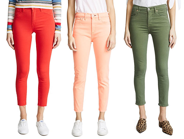New Colored Jeans to Brighten Up Your Summer Wardrobe - Red, Pink, Green