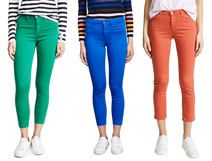 New Colored Jeans to Brighten Up Your Summer Wardrobe - Green, Blue, Orange